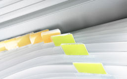 Blank File. A blank file in a filing cabinet. Insert your own category Royalty Free Stock Photos