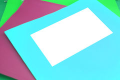 Blank file. Colorful file folders  with blank space for writing Stock Photo