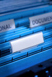 Blank File In Filing Cabinet Royalty Free Stock Photos