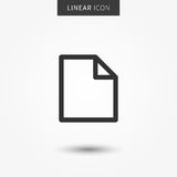 Blank file icon vector illustration. Isolated blank document line symbol. Documents linear icon. Paper page office element outline concept. Isolated new file royalty free illustration