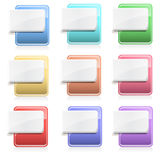 Blank File Type Icons. Collection of blank file type icons Royalty Free Stock Photos