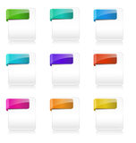 Blank File Type Icons Stock Photo
