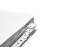 Blank Filings Tabs Stock Photography