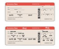 Blank and Filled in Airport Boarding Pass. Template. Travel Concept. Vector Illustration stock illustration