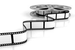 Blank film. On film reel Stock Image