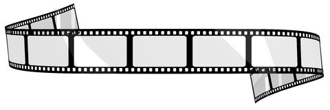 Blank film banner. Isolated on white Stock Images