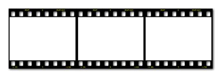Blank film frame. Blank 35mm film holder for images Stock Image