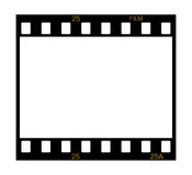Blank film frame. Blank slide film frame on white background Royalty Free Stock Photo