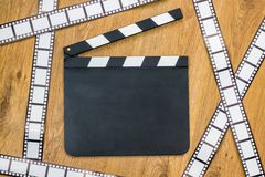 Blank film slate Royalty Free Stock Photography