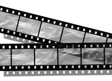 Blank film strip. On white background Stock Photography
