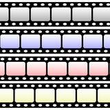 Blank film strip. Film strip on a white background 2d Royalty Free Stock Image