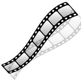 Blank film strip Stock Photos