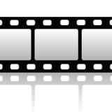 Blank film strip. Isolated on white Stock Photos