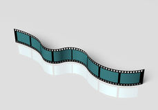 Blank film strip. 3d abstract blank film strip. Isotated on white background Stock Photo
