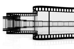 Blank film strip. On white background Stock Photo