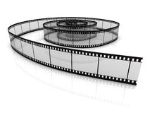 Blank film strip. Isolated on white background Stock Image
