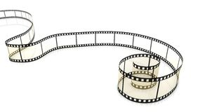 Blank film strip. Blank film on white background with Reflections Stock Image