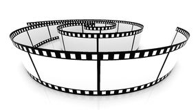 Blank film strip Royalty Free Stock Photos