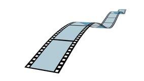 Blank film strip. White background Royalty Free Stock Photos