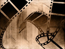 Blank film strip. On abstract background Stock Images