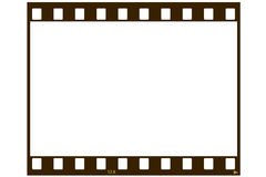 Blank film strip. A blank 35 MM film strip for use as a design element. User may place any image or text inside the frame royalty free stock photo