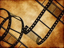 Blank film strip. In the old style Stock Image
