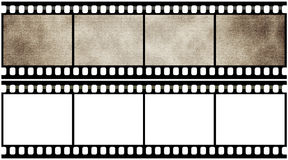 Blank film strip. On a white background Stock Images