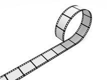 Blank Film Strip. On white background Royalty Free Stock Photos