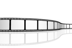 Blank film strip. Isolated on whtie Stock Images