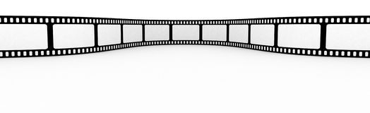 Blank film strip. Film strip with blank spaces for photos Royalty Free Stock Photography