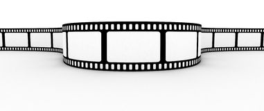 Blank film strip. Film strip with blank space for photos Stock Photo