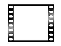 Blank film strip. Isolated on white Stock Photo