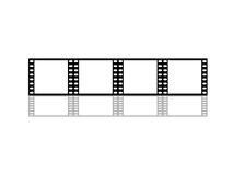 Blank film strip. Isolated on white Stock Photography