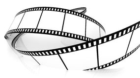 Blank film strip drowning in white vector illustration