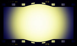 Blank film strip frame. Background Royalty Free Stock Image