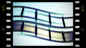 Blank film strip frame. On white Stock Photography