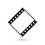 Blank film strip icon isolated on white background Royalty Free Stock Image