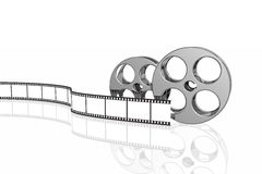 Blank film strip and reels Royalty Free Stock Photos