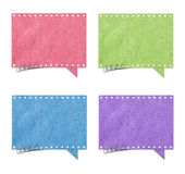 Blank film strip speech bubbles recycled paper Royalty Free Stock Images