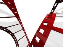 Blank film strip. On a white background Stock Photos