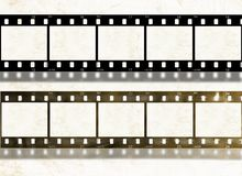 Blank film stripes, old and new, design elements Royalty Free Stock Images