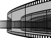 Blank filmes. 3d blank films strip over white background Royalty Free Stock Photo