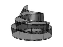 Blank filmes. 3d blank films strip over white background Stock Images
