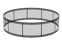 Blank filmes. 3d blank films ring over white background Royalty Free Stock Images