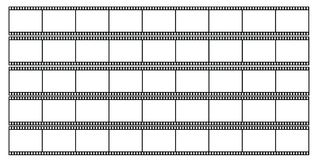 Blank filmstrips illustration. Illustration of five blank filmstrips isolated Royalty Free Stock Photos
