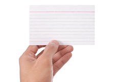 Blank Flash Card Stock Photo
