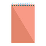 Blank flat spiral notepad. Notebook isolated on white background. Vector illustration Royalty Free Stock Photography