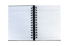 Blank flip notebook pages isolated on white background Stock Photos