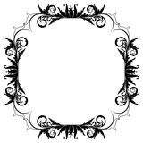 Blank floral frame border Royalty Free Stock Images