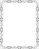 Blank Floral Frame Border Stock Photo